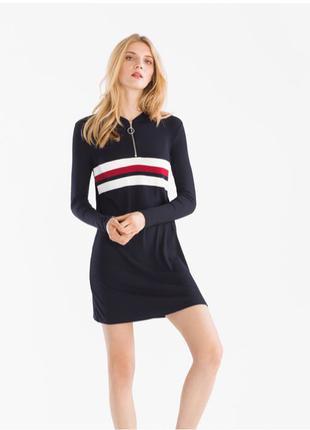 "Вискозное мини платье с&а в стиле «hilfiger"""