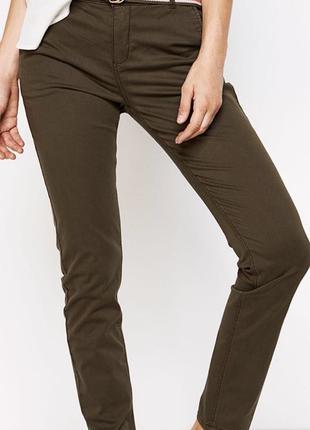 Новые женские брюки springfield цвет хаки