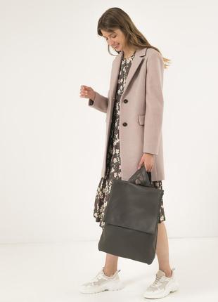 Женское осеннее пальто season бежевого цвета