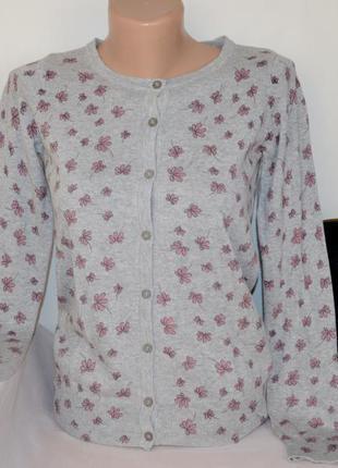 Брендовая кофта джемпер пуловер atmosphere мьянма коттон цветы...