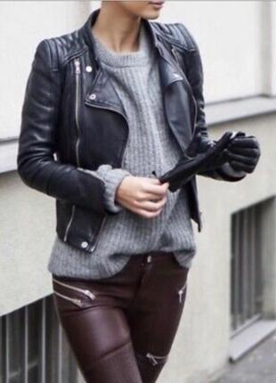 Куртка косуха Zara кожа натуральная