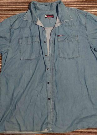 Мужская джинсовая рубашка,на большого мужчину, размер 66. Оригина