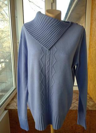 Натуральный свитер джемпер реглан большого размера батал