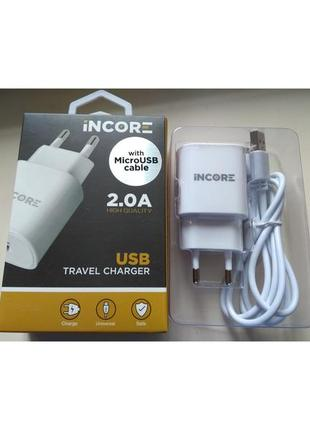 Зарядное устройство, Адаптер Питания INCORE USB TRAVEL CHARGER 2.