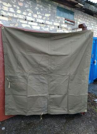 Плащ-палатка военная (новая) брезентовая времён ссср