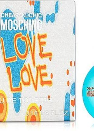 Moschino i love love туалетная вода (мини)