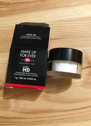Финишная пудра make up for ever ultra hd loose powder 1 грамм