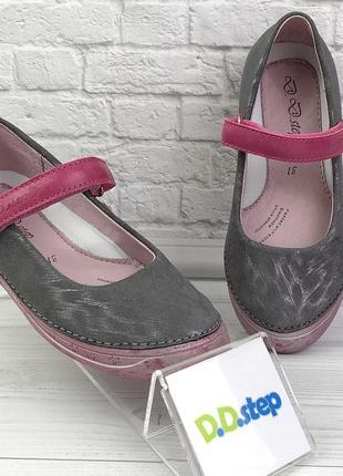 D.D. Step новые кожаные туфли для девочки супинатор кож стельк...