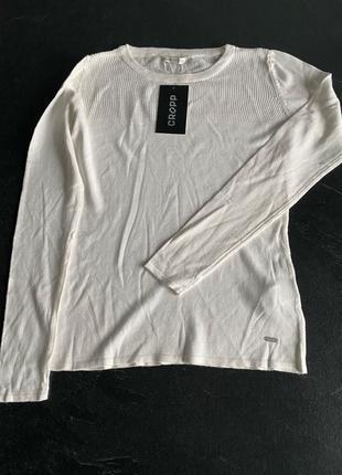 Новый белый легкий женский свитер cropp