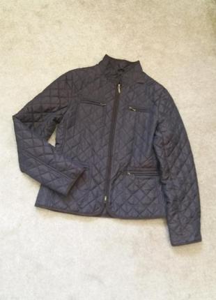 Черная стеганая куртка оригинал hobbs--8\10р