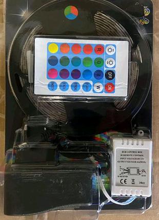 Комплект светодиодная лента многоцветная 3528 RGB с пульто блоком