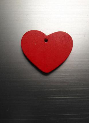 Сердечко деревянное для декора
