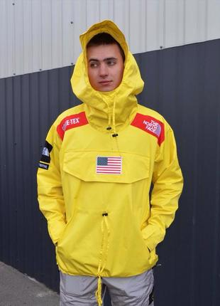 Куртка supreme the north face gore-tex yellow