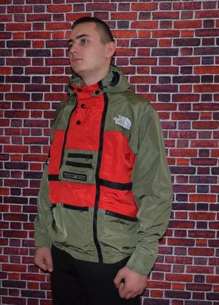 Куртка supreme x the north face steep tech red/haki