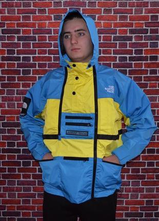 Куртка supreme x the north face steep tech yellow/blue