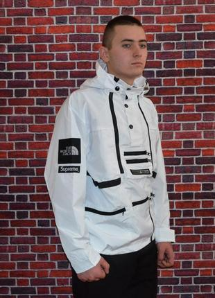 Куртка supreme x the north face steep tech white