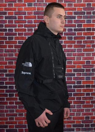 Куртка supreme x the north face steep tech black