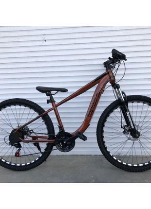 """Горный велосипед TopRider 550 колеса 26 дюймов, рама 15"""" коричнев"""