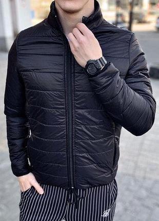 Куртка мужская стеганая asos демисезонная черная / куртка чоло...
