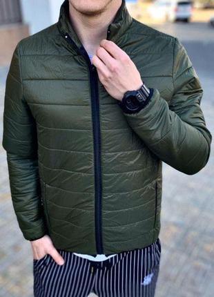 Куртка мужская стеганая asos демисезонная хаки / куртка чолові...