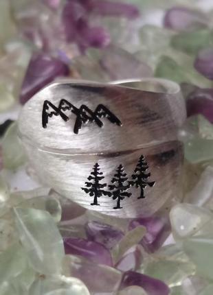 Кольцо перстень гори горы карпати сосни сосна елка ель дерево ...