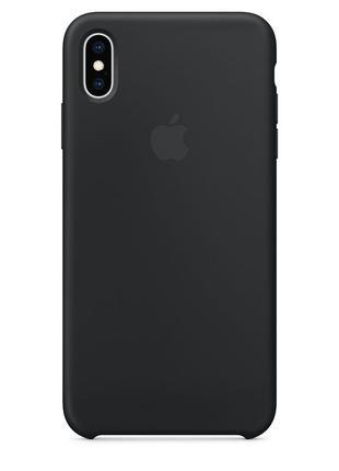 Силиконовый чехол apple silicone case black для iphone xs
