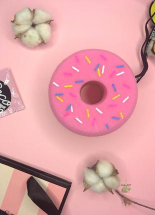 Мочалка-пончик для душа pink bubble babes sponges