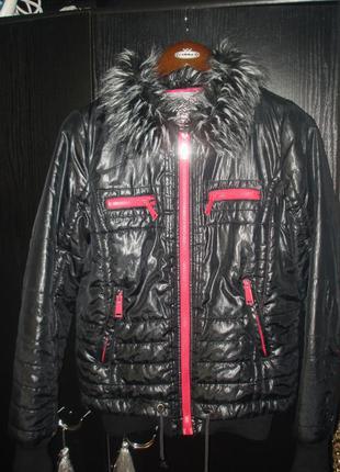 Классная куртка broadway утепленная р. s