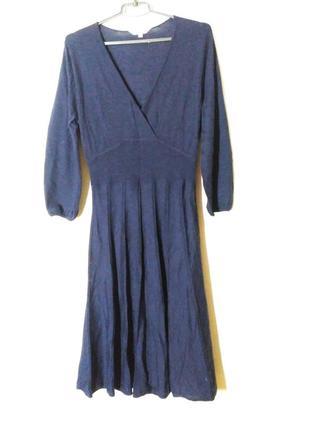 Платье шерстяное шерсть на зиму  теплое