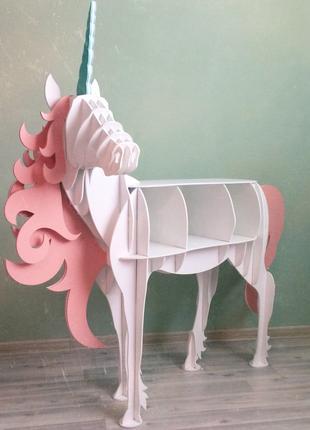 Єдиноріг стол Candy Bar кенди кенді бар полка стіл единорог конь