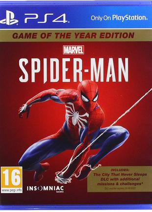 Spider man game of the year edition ps4 (диск человек паук)