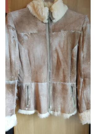 Кожаная куртка на меху, замшевый пиджак, натуральная кожа, мех