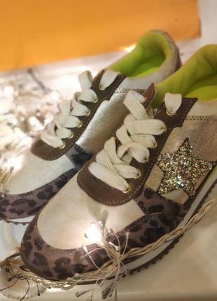 Кроссовки сникерсы кеды cache cache леопард