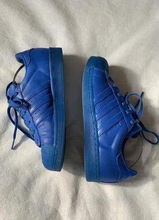 Adidas superstar blue синие суперстары оригинал кожа