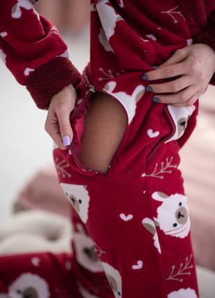 Пижама комбинезон с карманом на попе (попожама) popojama 8 марта
