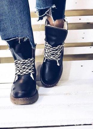 36-41 натуральные кожаные ботинки / деми зима
