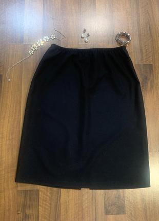 Черная юбка большого размера без подкладки