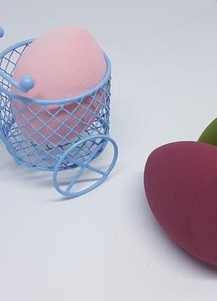 Комплект бьюти-блендеров / косметический спонж / набор из 3-х ...