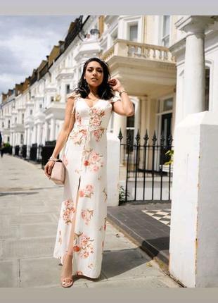 Длинное платье с цветочным принтом  Primark