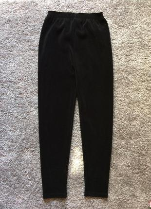 Чёрные леггинсы лосины штаны