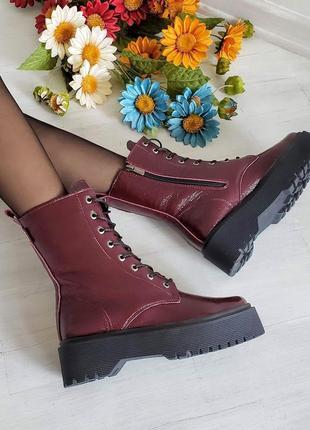 36-40 натуральные кожаные ботинки деми зима