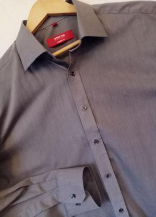 Фирменная черная серая рубашка сорочка с длинным рукавом 52 54 56