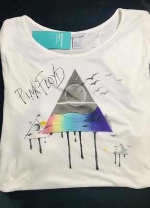 Новая футболка h&m с художественной росписью под мерч pink floyd
