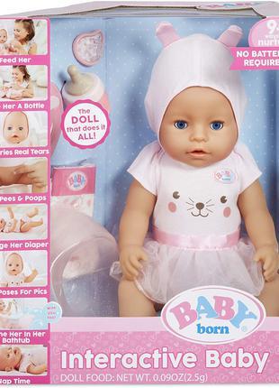 Кукла пупс беби борн девять функций Baby Born Zapf Creation
