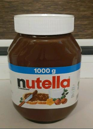 Шоколадная крем-паста Нутелла (Nutella) 1 кг. От одной банки
