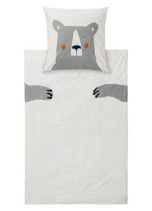 Двухсторонний детский комплект постельного белья 140*200, 60*7...
