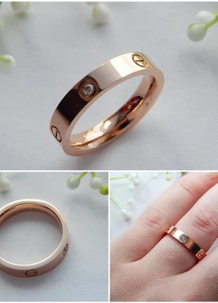 Кольцо love размеры 17