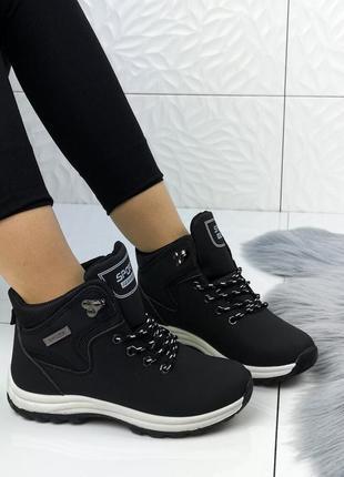 Теплые спортивные ботинки евро зима жіночі полуботинки