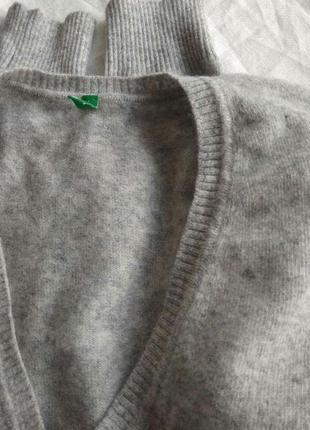 Шерстяной пуловер с ангорой benetton m