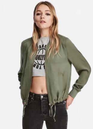 Бомбер , курточка ветровка хаки h&m